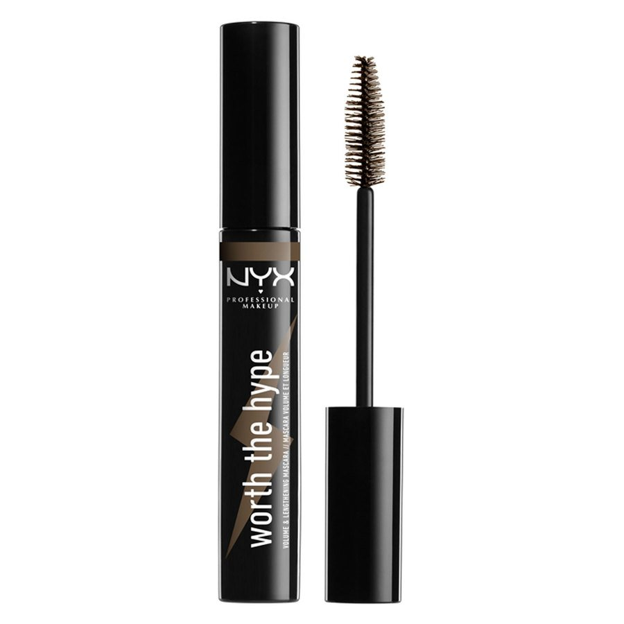 NYX Professional Makeup Worth The Hype Color Mascara Brownish Black 7g