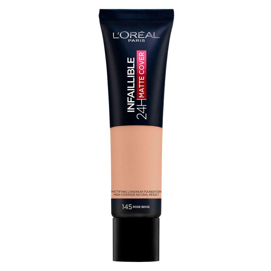 L'Oréal Paris Infaillible 24H Matte Cover Foundation 145 Rose Beige 30ml