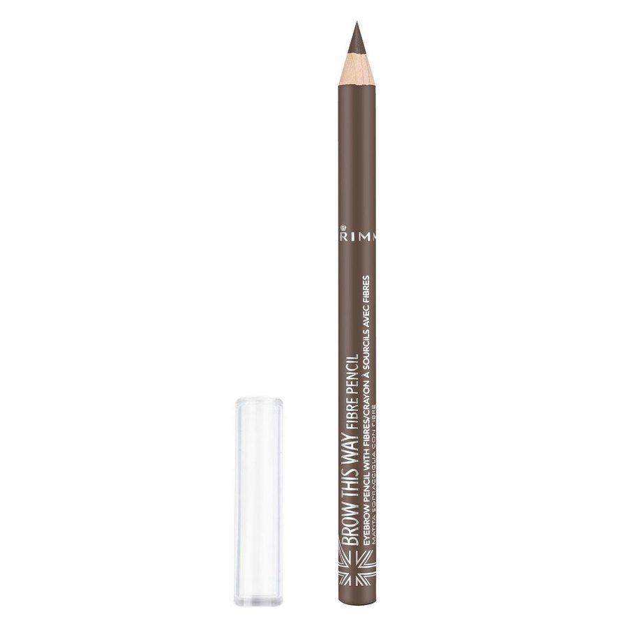 Rimmel London Brow This Way Fibre Pencil #002 Medium Brown 1g