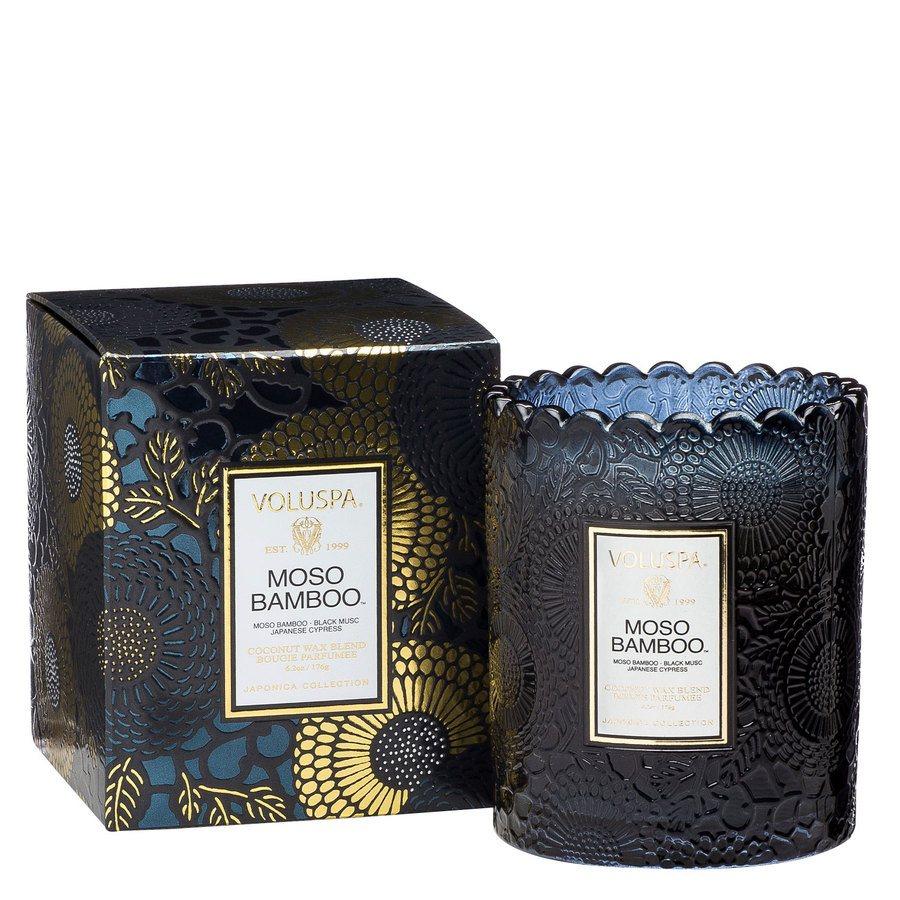 Voluspa Boxed Scalloped Candlepot Moso Bamboo 176g