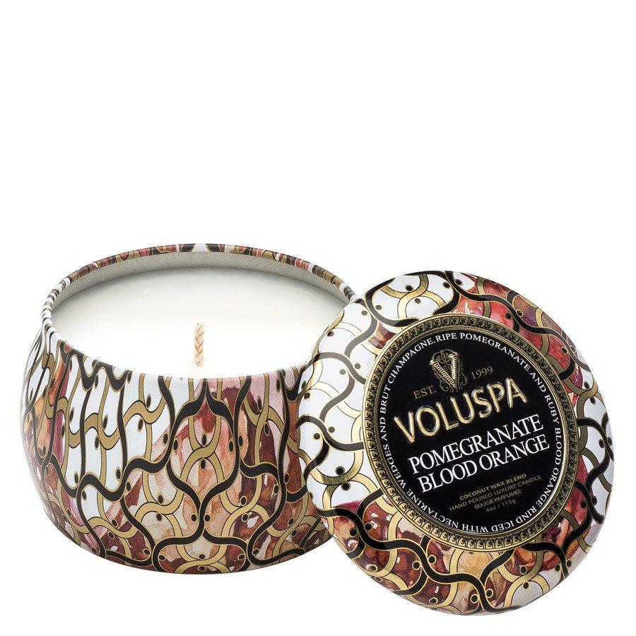 Voluspa Decorative Tin Candle Pomegranate Blood Orange 113g