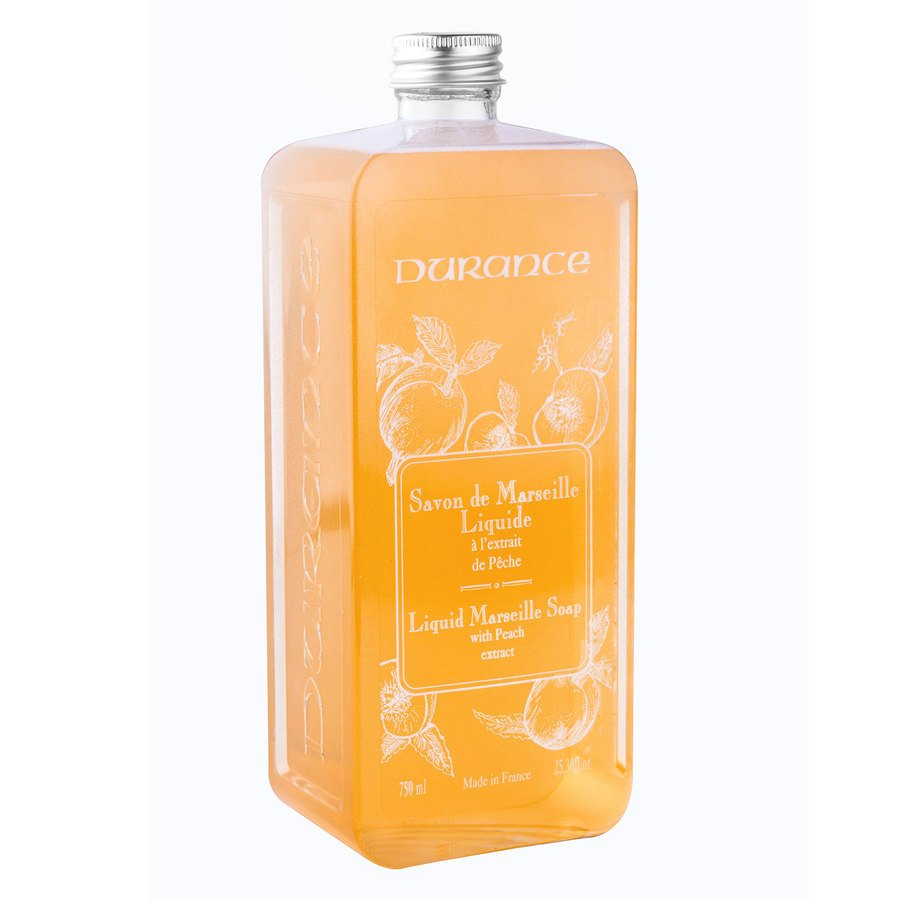 Durance Liquid Marseille Soap With Peach And Basil Refill 750ml
