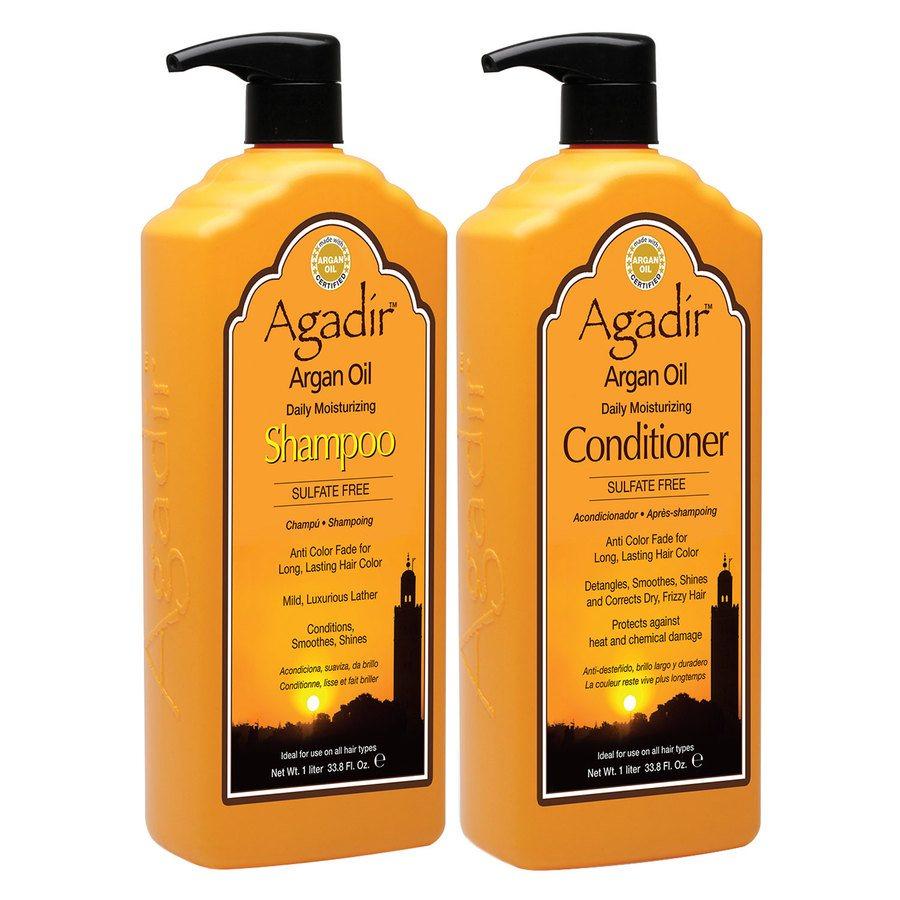 Agadir Daily Moisturizing Shampoo and Conditioner 2x1000ml