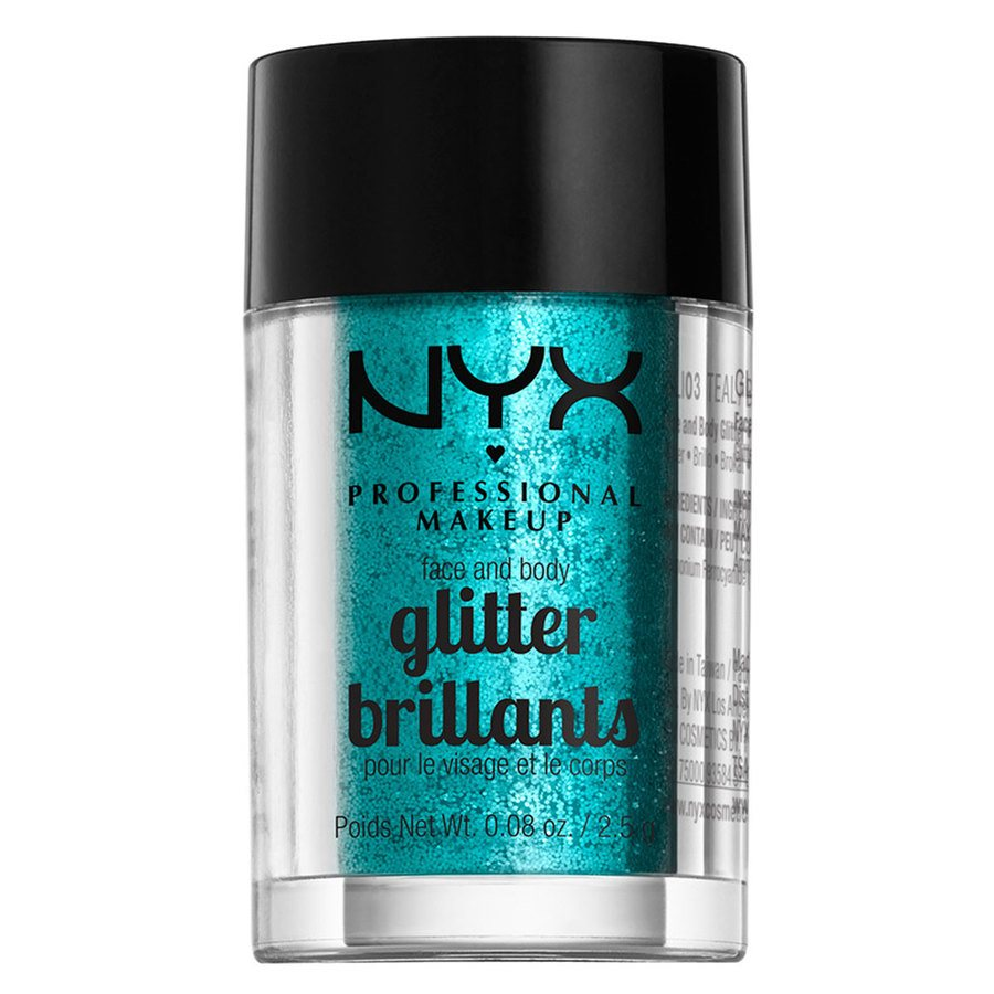 NYX Professional Makeup Face & Body Glitter Teal 2,5g