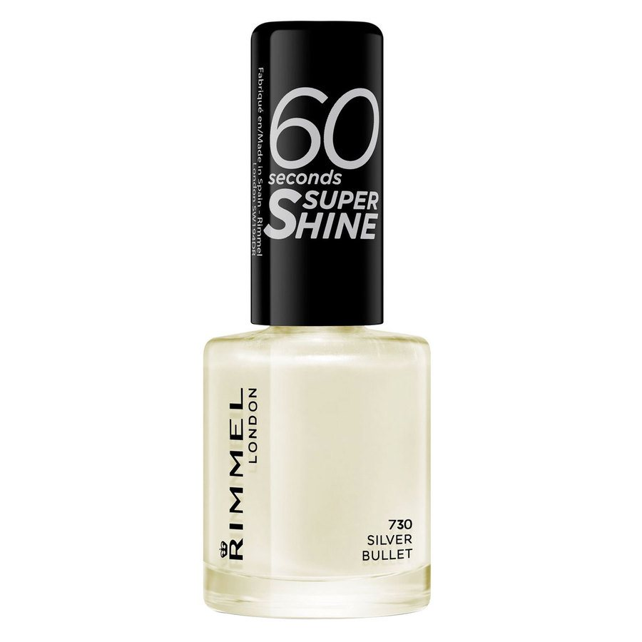 Rimmel London 60 Seconds Super Shine Nail Polish #730 Silver Bullet 8ml