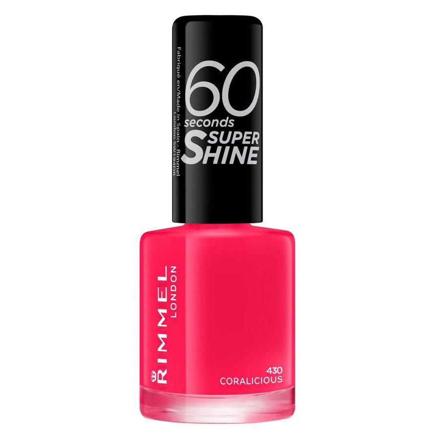 Rimmel London 60 Seconds Super Shine Nail Polish #430 Coralicious 8ml