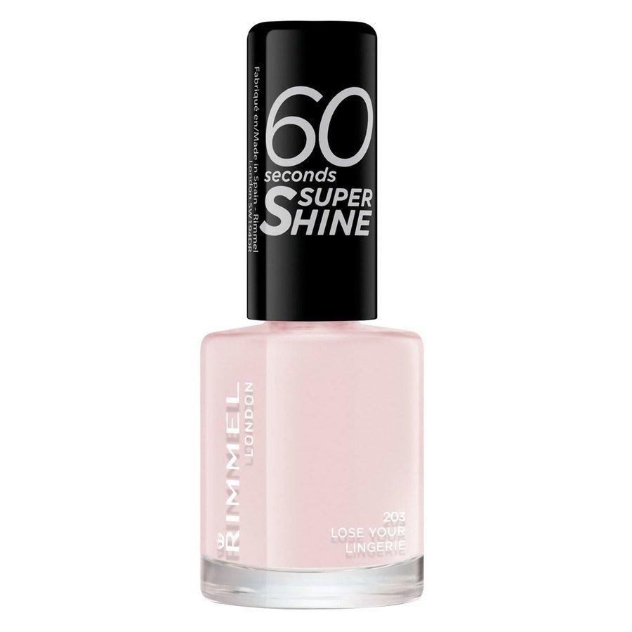RimmelLondon  60 Seconds Super Shine Nail Polish #203 Lose Your Lingerie 8ml